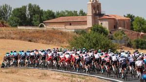 Imagen del pelotón en esta Vuelta 2021