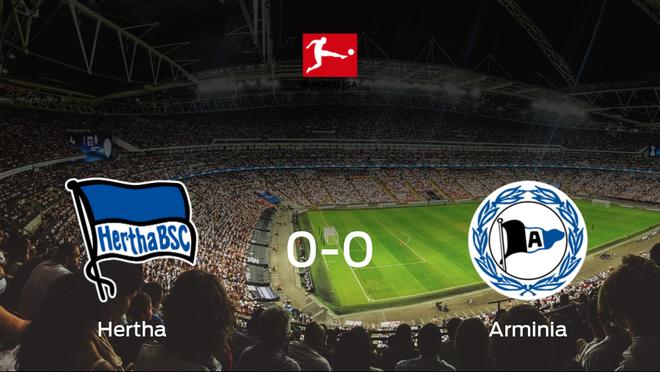 El Hertha Berlín y el Arminia Bielefeld empatan sin goles en el Estadio Olímpico de Berlín (0-0)