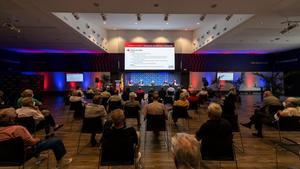 Un momento de la Asamblea celebrada el miércoles por la Agrupació de Jugadors del FC Barcelona