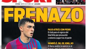 Portada SPORT | Frenazo