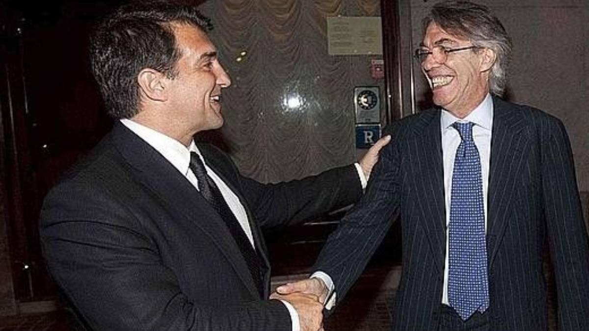 Moratti y Laporta fueron los protagonistas de la llegada de Ibrahimovic