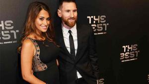 Leo Messi y Antonela Roccuzzo, en la gala de The Best 2017