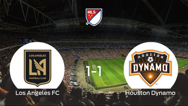 El Los Angeles FC y el Houston Dynamo empatan 1-1 y se reparten los puntos