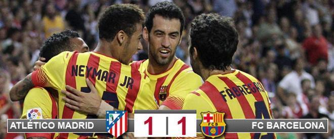Neymar salvó al Barça en el Calderón