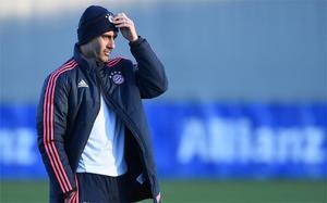 Pep Guardiola, en un entrenamiento con el Bayern de Múnich