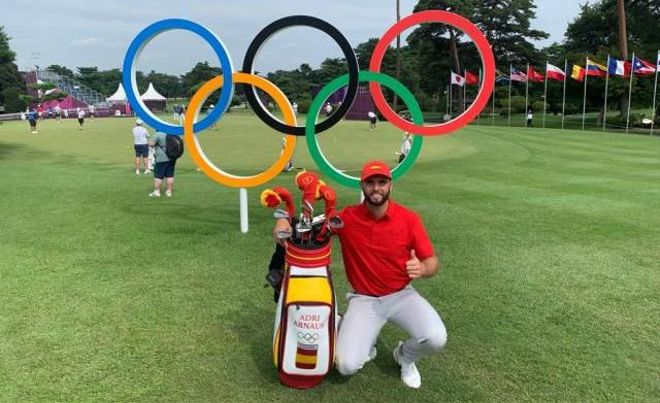 Adri Arnaus no descarta la medalla en el torneo de golf
