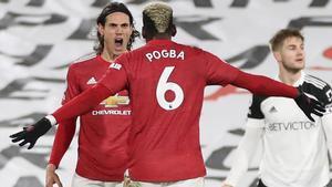 Pogba y Cavani, goleadores de la noche