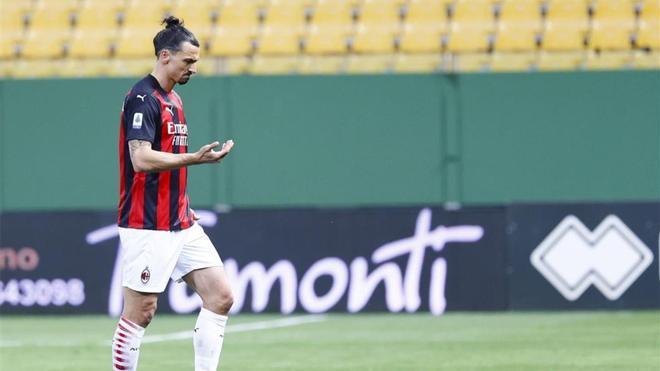 Zlatan Ibrahimovic, durante un partido con el Milan.