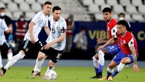 Leo Messi, protagonista, marcó el tanto de la Albiceleste