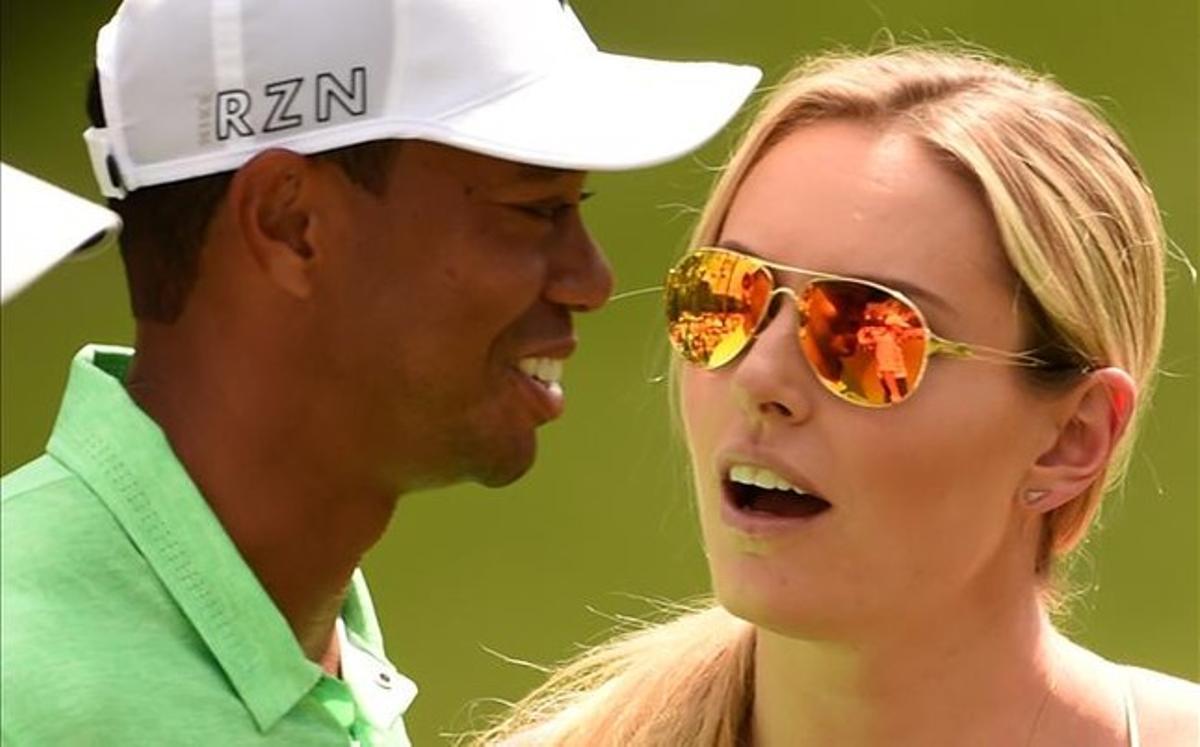 Woods et sa petite amie, la championne de ski Lindsey Vonn