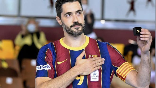 Raúl Entrerríos con el Barça.