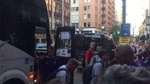 El Barça llega a Portland a la espera de Malcom