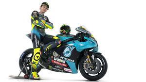 Valentino Rossi, con la Yamaha M1 del Petronas SRT Team