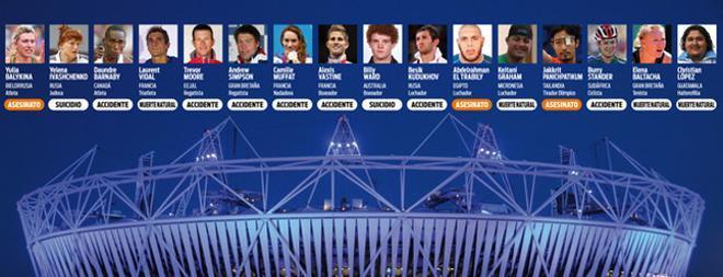 16 atletas fallecidos desde Londres 2012