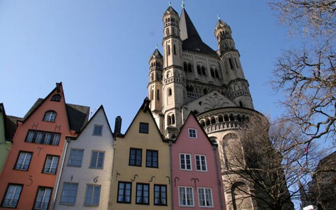 Edificios típicos del centro histórico de Colonia