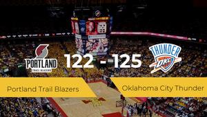 Oklahoma City Thunder logra ganar a Portland Trail Blazers (122-125)