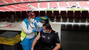 El Wanda Metropolitano, centro de vacunación contra el coronavirus