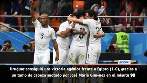 Giménez rescata a Uruguay en su gris debut frente a Egipto