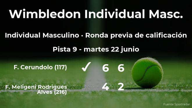 Francisco Cerundolo gana en la ronda previa de calificación de Wimbledon