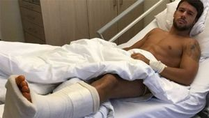 Juan Bernat sufrió rotura de la sindesmiosis del tobillo izquierdo