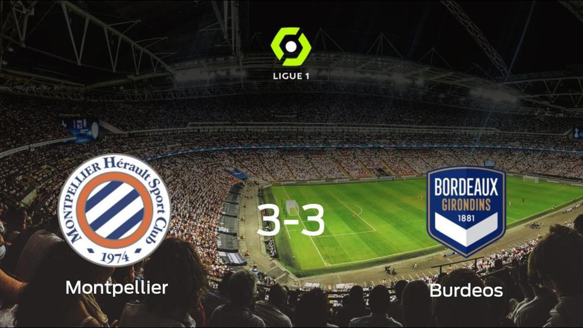 Reparto de puntos entre el Montpellier y el FC Girondins Burdeos (3-3)