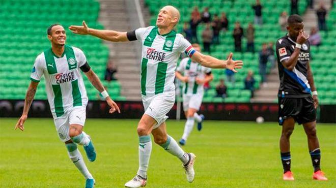 Robben vuelve a marcar con el Groningen 18 años después