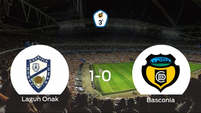 El Lagun Onak consigue la victoria en casa ante el Basconia (1-0)