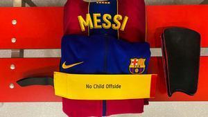 El brazalete de capitán de Messi para el partido en Sevilla