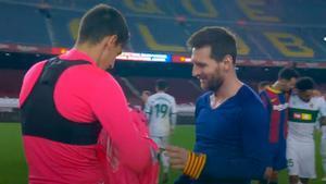 Así reaccionó Édgar Badía cuando Leo Messi le pidió su camiseta