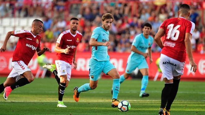 Samper disputó en Tarragona uno de sus últimos partidos con el Barça