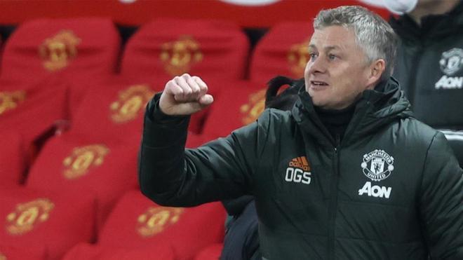 Ole Gunnar Solskjaer, entrenador del Manchester United