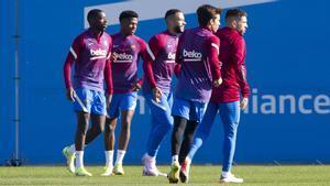 El Barça prepara su partido de mañana ante el Rayo