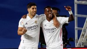 Marco Asensio y Vinicius compiten por una plaza en el once titular