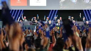 El momento de la votación para aprobar el balance de la temporada 2020/21