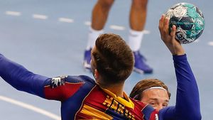 Imagen del Barça - Veszprem de la Champions de Balonmano