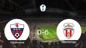 El Sabiñánigo se lleva los tres puntos a casa tras golear al Villanueva (0-6)