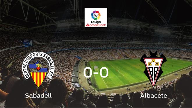 El Sabadell y el Albacete empatan sin goles en el Nova Creu Alta (0-0)