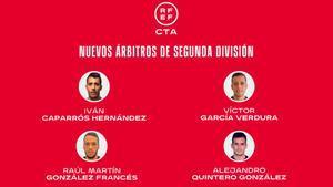 Los nuevos árbitros de Segunda división
