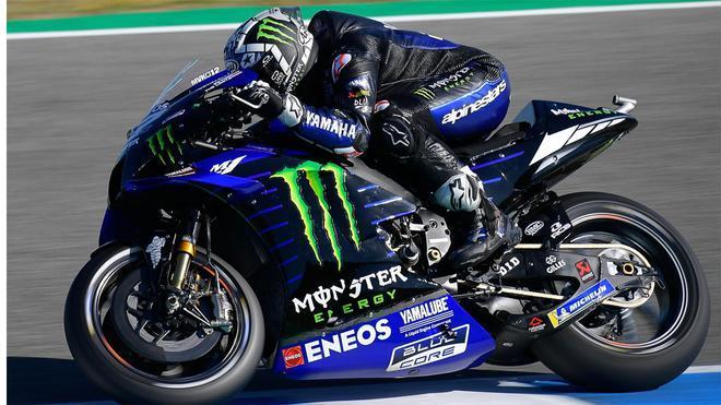 Viñales rueda con la Yamaha en Jerez