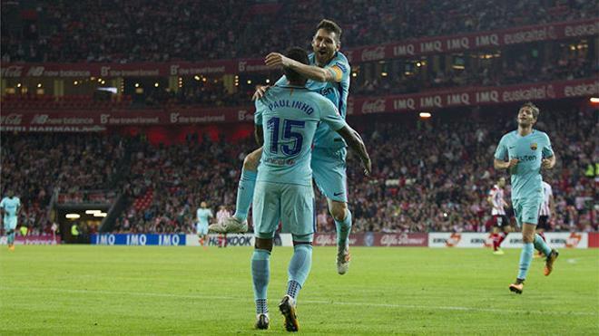 LALIGA | Athletic - FC Barcelona (0-2): El gol de Paulinho