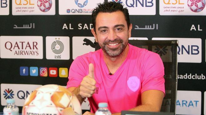 Xavi Hernández, ayer, en la rueda de prensa previa al Al-Sadd - Al-Ahli