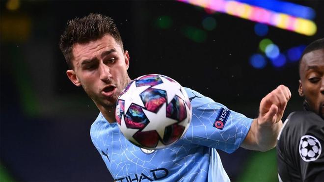 Aymeric Laporte, en un partido con el Manchester City