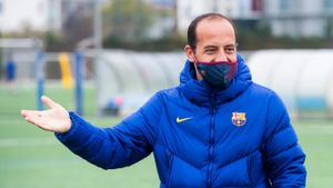 Lluís Cortés en un entrenamiento en la Ciutat Esportiva