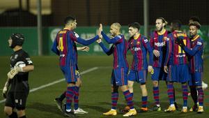 El Barcelona en el duelo ante el Cornellà