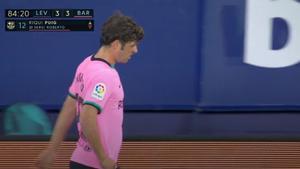 Sergi Roberto tuvo que ser cambiado por lesión