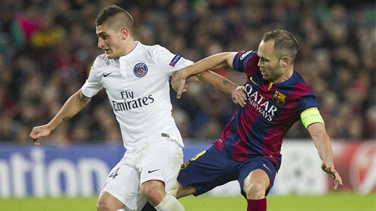 El día que Marco Verratti se presentó en el Camp Nou