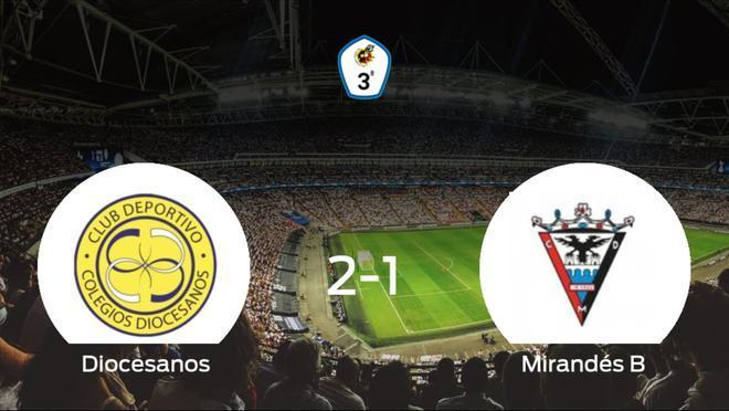 El CD Diocesanos consigue la victoria en casa frente al Mirandés B (2-1)