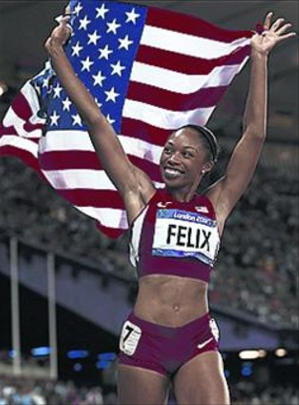 La estadounidense Allyson Felix