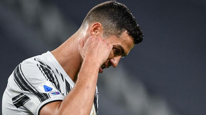 Cristiano Ronaldo, frustrado en Turín