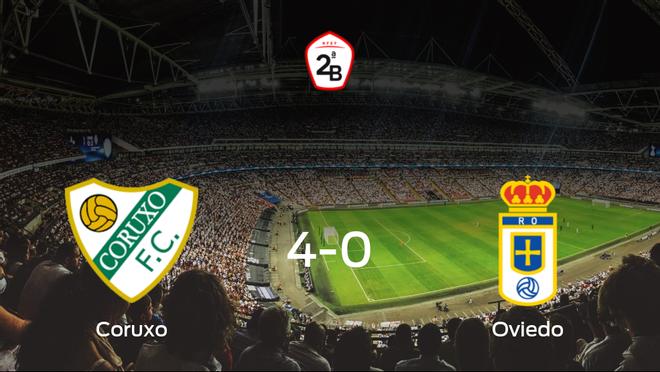 El Coruxo consigue los tres puntos en casa tras pasar por encima del Real Oviedo B (4-0)